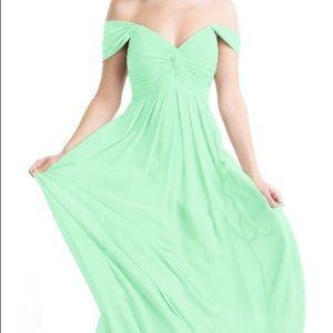 Mint Green Azazie Kaitlynn Size A8 Dress